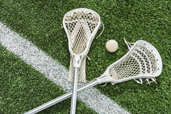 pair of Lacrosse sticks
