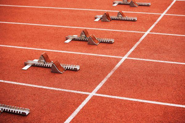 Some starting block on running track
